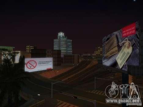 Nuevos carteles por todo el estado para GTA San Andreas sexta pantalla