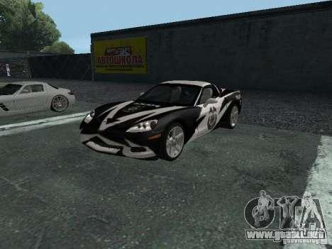Chevrolet Corvette C6 para vista inferior GTA San Andreas