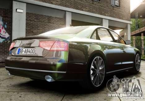 Audi A8 (D4, Typ 4H) 2010 Alpha para GTA 4 left