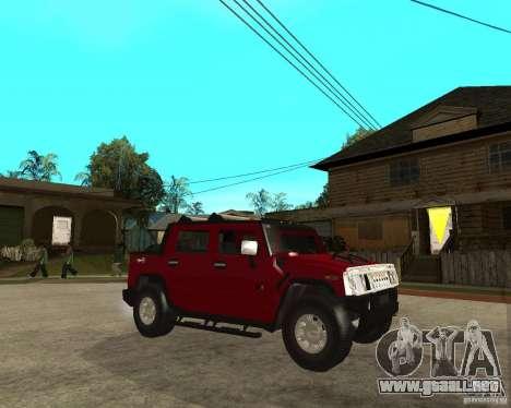 AMG H2 HUMMER SUT para la visión correcta GTA San Andreas