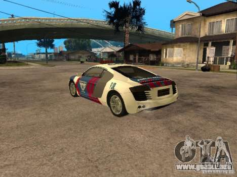 Audi R8 Police Indonesia para GTA San Andreas left