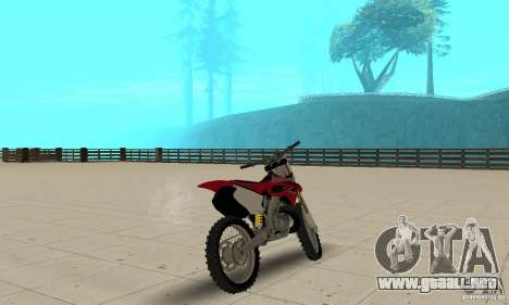 Honda CR125 para GTA San Andreas left