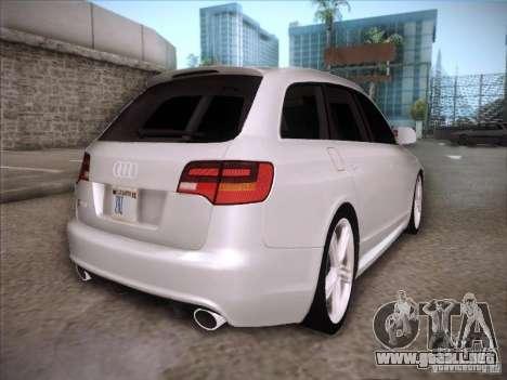 Audi RS6 Avant para la visión correcta GTA San Andreas