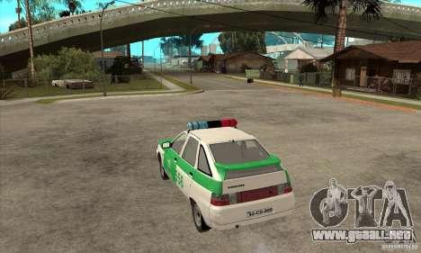Policía YPX VAZ-2112 para GTA San Andreas vista posterior izquierda
