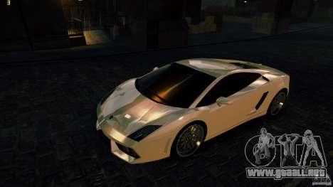 Lamborghini Gallardo Hamann para GTA 4 Vista posterior izquierda
