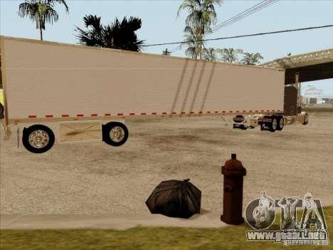 Trailer, Peterbilt 379 personalizado para GTA San Andreas vista posterior izquierda