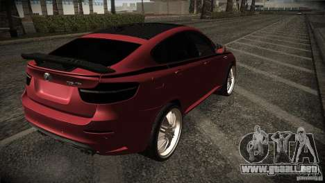 BMW X6 Lumma para GTA San Andreas vista hacia atrás