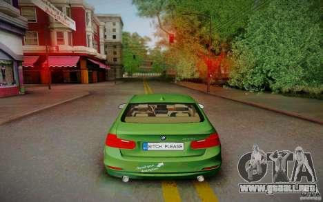 BMW 3 Series F30 Stanced 2012 para la visión correcta GTA San Andreas