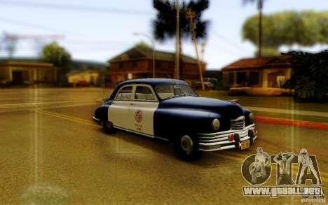 Packard Touring Police para GTA San Andreas vista posterior izquierda