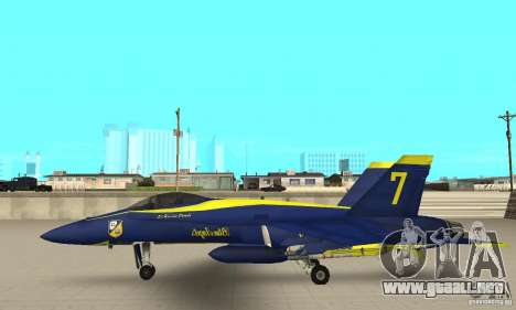 Blue Angels Mod (HQ) para GTA San Andreas left