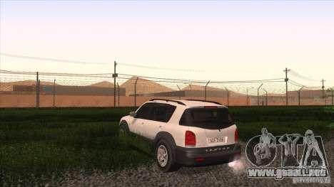 SsangYong Rexton 2005 para GTA San Andreas vista posterior izquierda