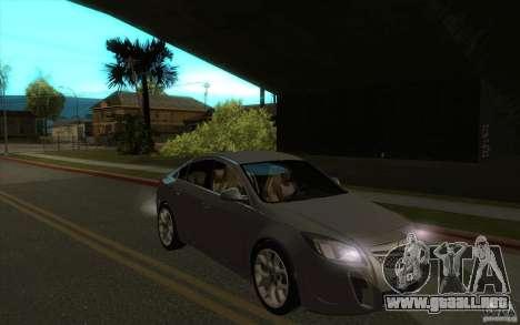 Opel Insignia 2011 para GTA San Andreas vista hacia atrás