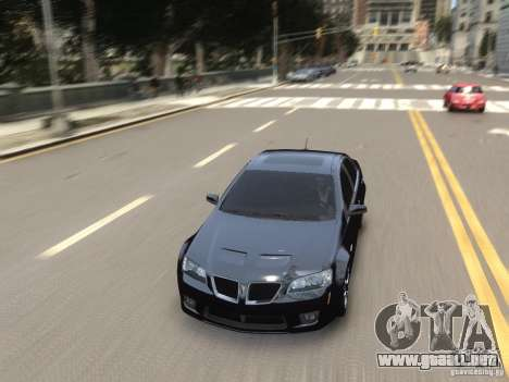 Pontiac G8 GXP para GTA 4 vista lateral