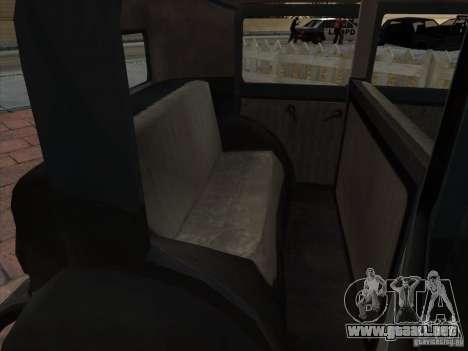 El vehículo de la segunda guerra mundial para vista lateral GTA San Andreas