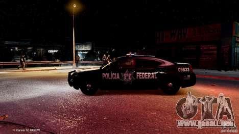 POLICIA FEDERAL MEXICO DODGE CHARGER ELS para GTA 4 vista desde abajo