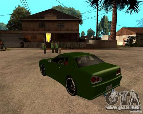 Elegy Green Line para GTA San Andreas left