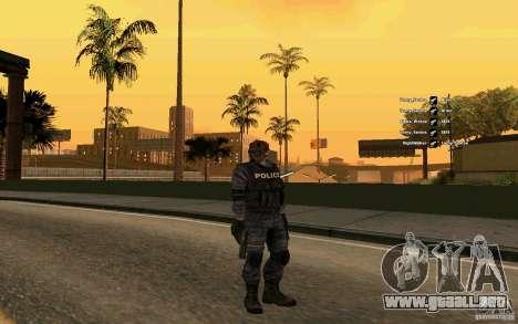 SWAT piel para GTA San Andreas