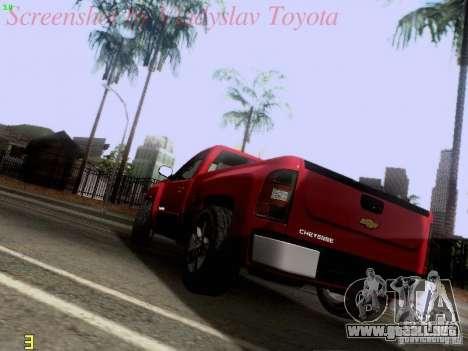 Chevrolet Cheyenne Single Cab para GTA San Andreas vista posterior izquierda