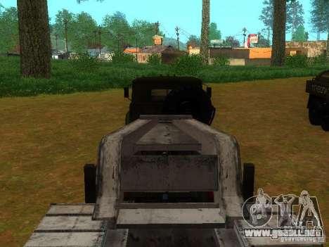 Ural-4420 tractor para vista lateral GTA San Andreas