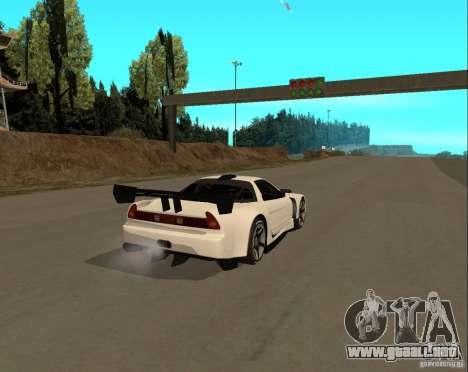 Acura NSX Sumiyaka para GTA San Andreas vista posterior izquierda