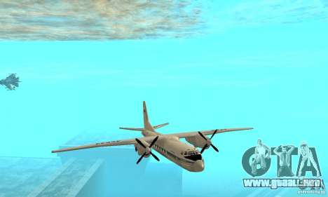 Antonov an-24 para vista lateral GTA San Andreas
