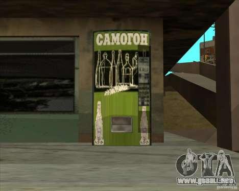Máquina con vodka para GTA San Andreas