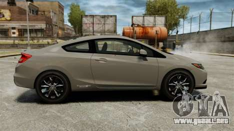 Honda Civic Si Coupe 2012 para GTA 4 left