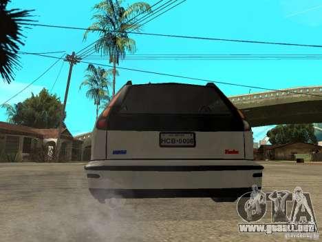 Fiat Marea Weekend para GTA San Andreas vista posterior izquierda