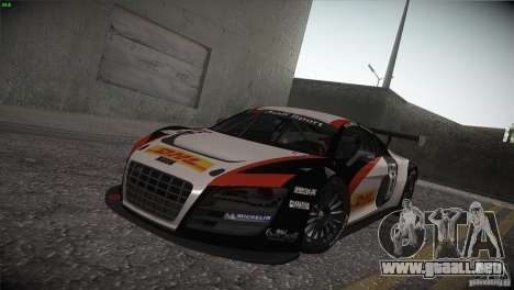 Audi R8 LMS para visión interna GTA San Andreas