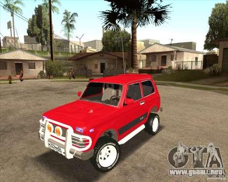 VAZ 21213 4 x 4 para la vista superior GTA San Andreas
