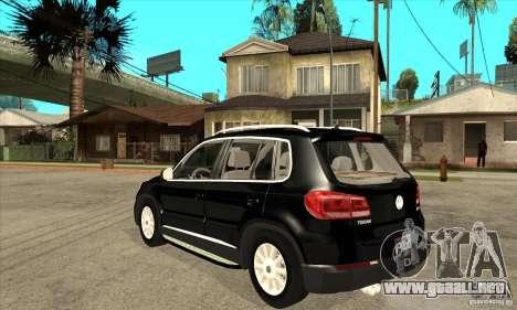 Volkswagen Tiguan 2.0 TDI 2012 para GTA San Andreas vista posterior izquierda