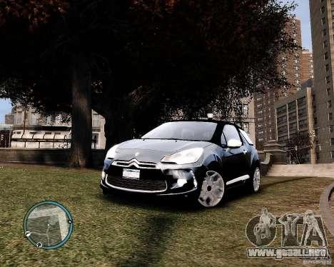 Citroen DS3 2011 para GTA 4 Vista posterior izquierda