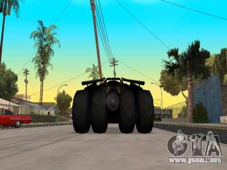 Tumbler Batmobile 2.0 para la visión correcta GTA San Andreas