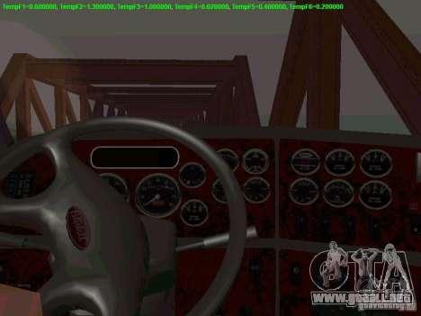 Peterbilt 387 para visión interna GTA San Andreas