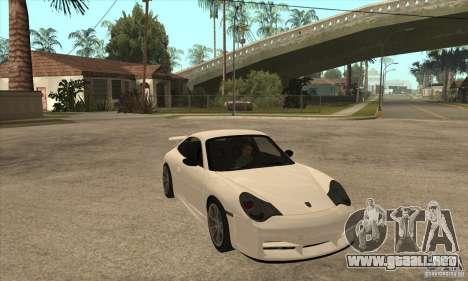 Porsche 911 GT3 (996) para GTA San Andreas vista hacia atrás