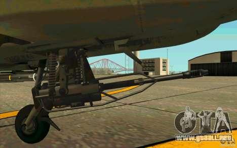Apache AH64D Longbow para visión interna GTA San Andreas