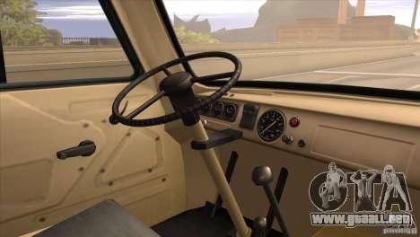 UAZ 450 para GTA San Andreas vista hacia atrás