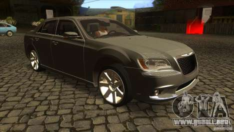 Chrysler 300 SRT-8 2011 V1.0 para GTA San Andreas vista hacia atrás