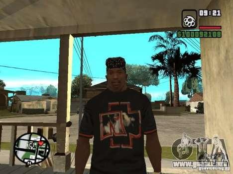 Rammstein camiseta v2 para GTA San Andreas