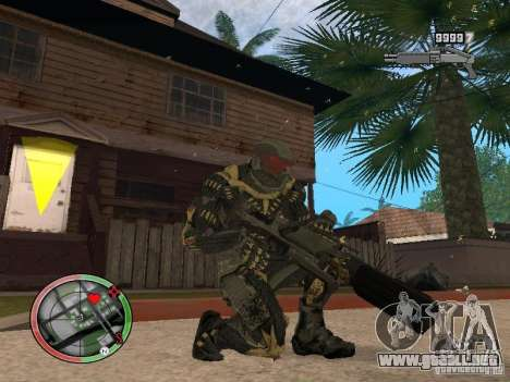 Colección de armas de Crysis 2 para GTA San Andreas sexta pantalla