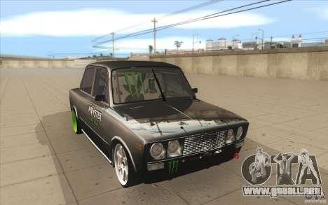 2106 VAZ Lada deriva sintonizado para GTA San Andreas vista hacia atrás