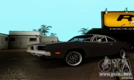 Dodge Charger RT para GTA San Andreas vista hacia atrás