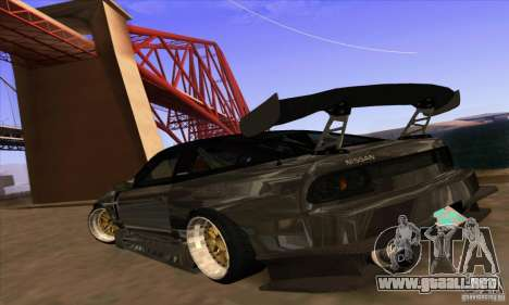 Nissan 180SX Gkon - Drift chrome para GTA San Andreas left