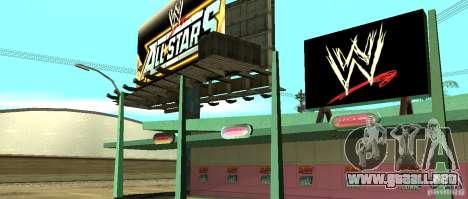 Nueva tienda de la WWE para GTA San Andreas sucesivamente de pantalla