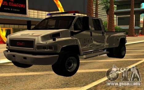 GMC Topkick C4500 para GTA San Andreas interior