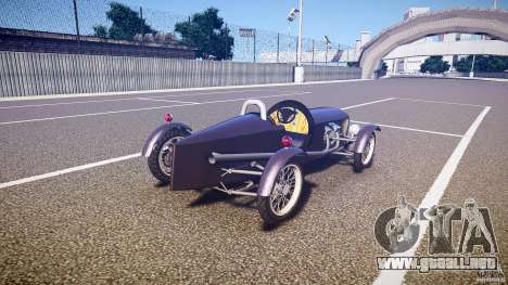 Vintage race car para GTA 4 vista lateral