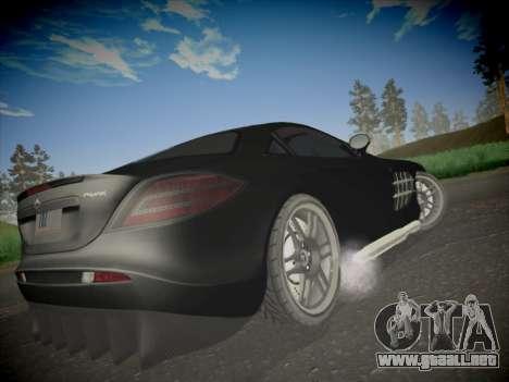 Mercedes-Benz SLR 722 Custom Edition para GTA San Andreas vista posterior izquierda
