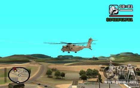 Sikorsky MH-53 con trampilla cerrada para GTA San Andreas vista posterior izquierda