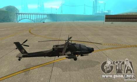 An-64 Apache para GTA San Andreas left