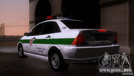 Ford Focus Policija para GTA San Andreas left